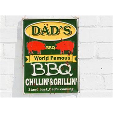 La Hacienda Dads BBQ Sign