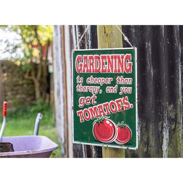 La Hacienda Tomatoes Garden Sign