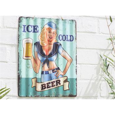 La Hacienda Ice Cold Sign