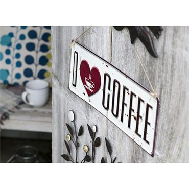 La Hacienda I Love Coffee Sign