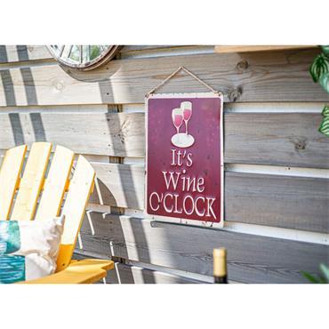 La Hacienda Its Wine O'Clock Sign