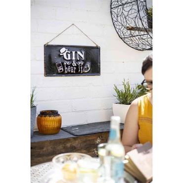 La Hacienda Gin & Bear Sign