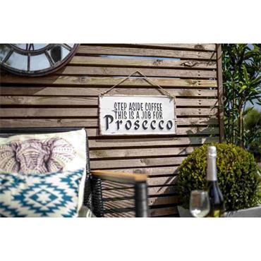 La Hacienda Step Aside Coffee Sign