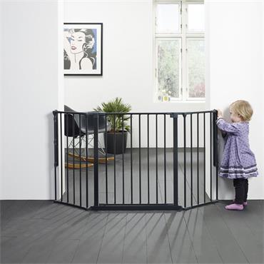 BabyDan Configure Flex Medium Gate Black 90-146cm