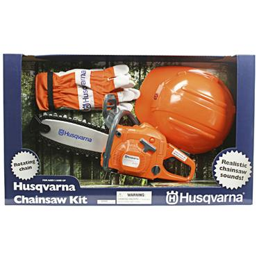 Husqvarna Toy Chainsaw Kit with Helmet & Gloves