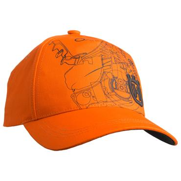 Husqvarna Orange Pioneer Baseball Hat