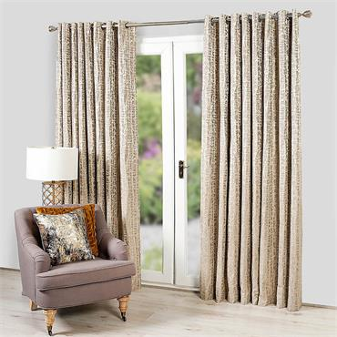 """Scatter Box Leon Silver Ready Made Curtains 100x90"""""""