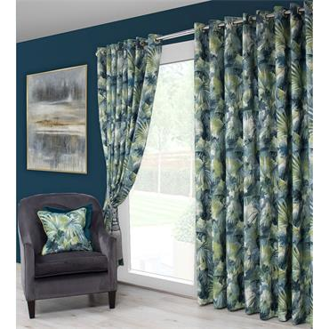 Scatter Box Aria Teal / Green Ready Made Curtains