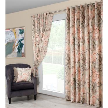 Scatter Box Edie Blush / Sage Ready Made Curtains