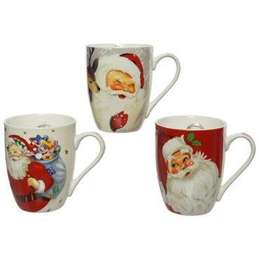 Kaemingk Assorted Santa Porcelain Mug