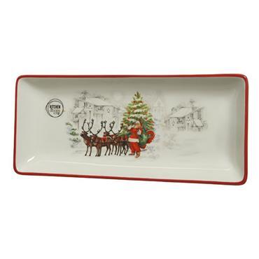 Kaemingk 28cm Serving Tray With Santa