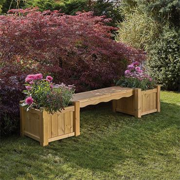 Hanbury Bench & Planter Set