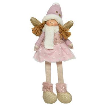 Kaemingk 35cm Sitting Angel With Dangling Legs