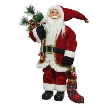 30cm Classic Santa with Stocking