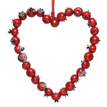 Kaemingk 34cm Hanging Heart Foam Berries