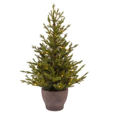 Illumax 4ft Norway Prelit Battery Operated Potted Tree