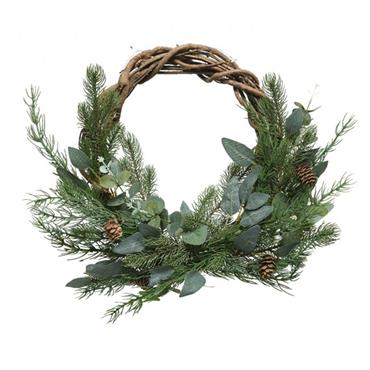 Leaves and Pinecones Wreath 40cm