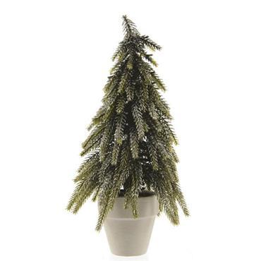 Kaemingk 26cm Silver Glitter Mini Tree