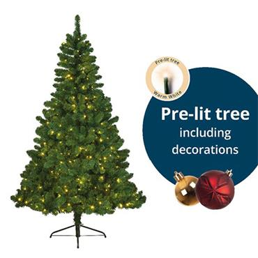 Illumax 6ft Imperial Pine Pre Decorated LED Christmas Tree