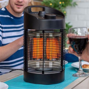 La Hacienda Black Series Nero Revolve Table Heater
