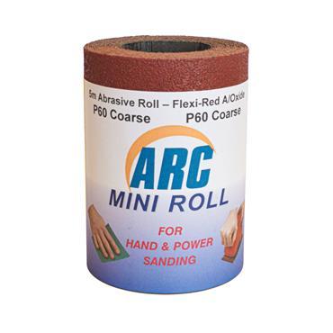 Flexi Red Oxide Roll P60 Grit 5 Metre