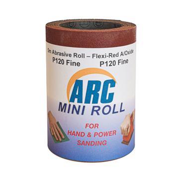 Flexi Red Oxide Roll P120 Grit 5 Metre