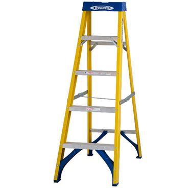 Werner 5 Tread Fibreglass Ladder