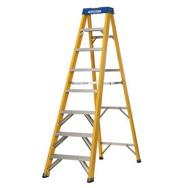 Werner 8 Tread Fibreglass Swingback Stepladder