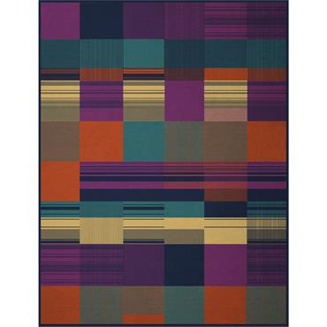 Biederlack Throw Abstract Check Multi