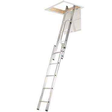 Werner 2 Section Loft Ladder with Handrail
