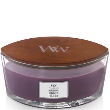 WoodWick Candles Dark Poppy Ellipse Jar