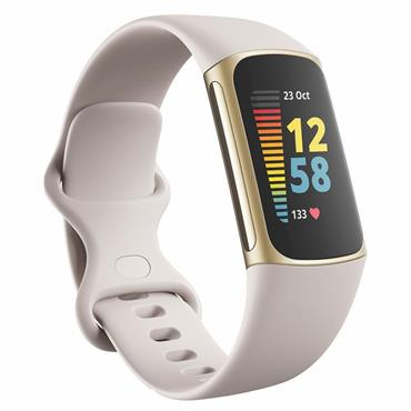 Fitbit Charge 5 Lunar White / Soft Gold Stainless Steel