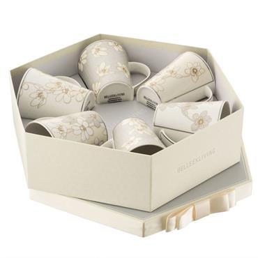Bay Flowers 6 Mugs Hexagon-Box