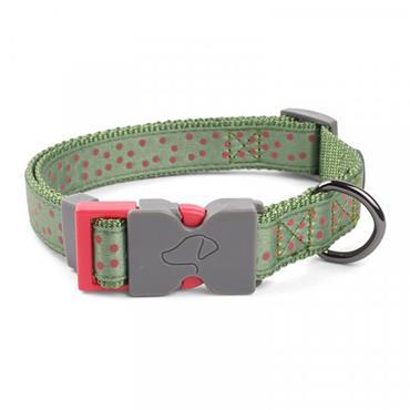 Smart Garden WalkAbout Dog Collar Green Polka XS