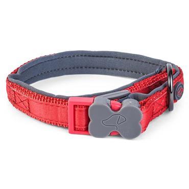 Smart Garden Uber Activ Red Padded Dog Collar Medium (31cm - 47cm)