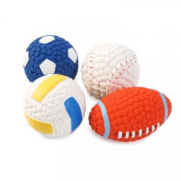 Smart Garden Assorted Dog Toy Squeaky Latex Pooch Ball 6cm