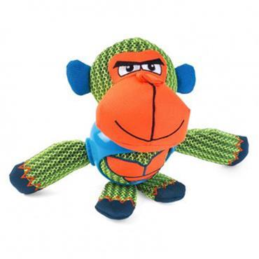 Smart Garden Dog Toy Tough Fabric Dura Chimp