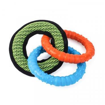 Smart Garden Dog Toy Tough Fabric Dura Tri Ring