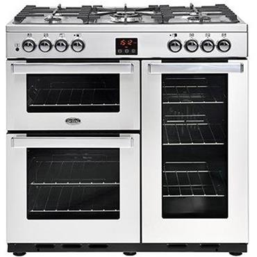 Belling 90cm Cookcentre Dual-Fuel Stainless Steel