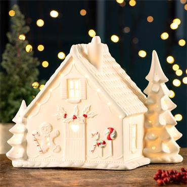 Belleek Gingerbread House Luminaire