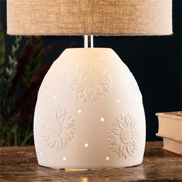 Belleek Sunflower Lamp & Shade