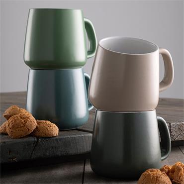 Belleek Air & Water Mug Set 4pce