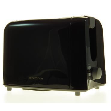 Sona 2 Slice Black Toaster