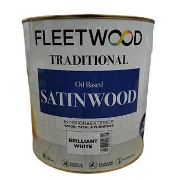 Fleetwood Oil Based Satinwood White 2.5L