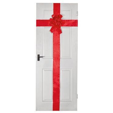 Red Ribbon Door Bow