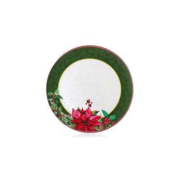 Green Edge Poinsettia Plate 40cm