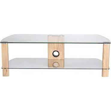 Century Tv Stand 1200mm Light Oak And Clear