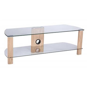 Century Tv Stand 1500mm Light Oak And Clear
