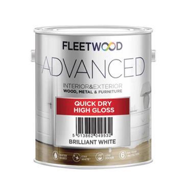 Fleetwood Advanced Quick Dry Gloss Brilliant White 1L
