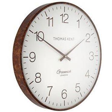 "21"""" Greenwich Club Wall Clock Walnut"